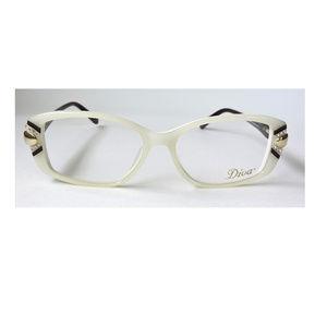 Diva 5424 Eyeglasses Ivory/Rhinestones